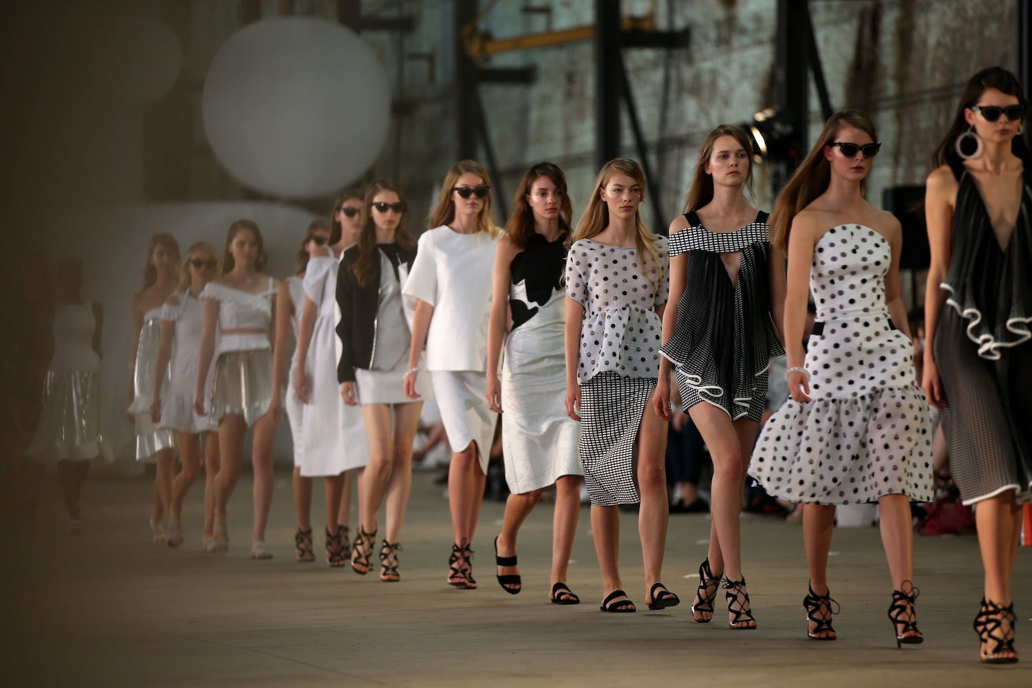 SYDNEY, AUSTRALIA - MAY 17: Models walk the runway during the By Johnny show at Mercedes-Benz Fashion Week Resort 17 Collections at Blacksmith's Workshop on May 17, 2016 in Sydney, Australia. (Photo by Caroline McCredie/Getty Images)